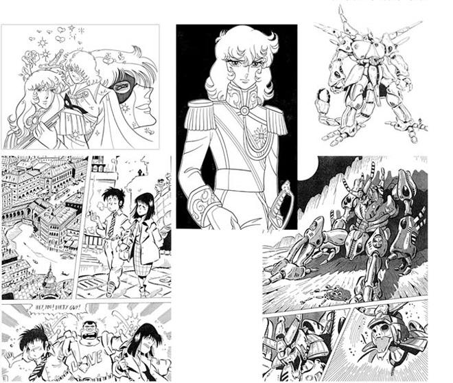 Fumetto giapponese studio grafico sm for Disegnatori famosi